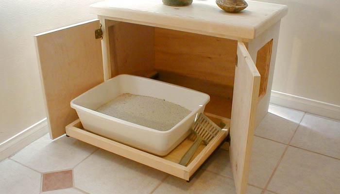 Туалета для кошки - скрытый