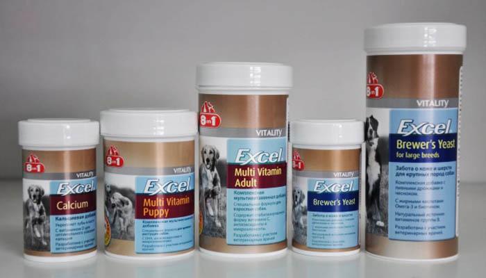 Витамины для взрослых собак и щенков Excel 8 in 1