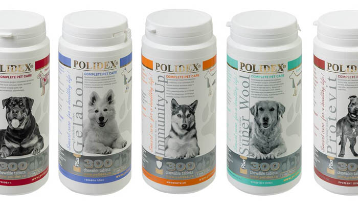 Витамины для взрослых собак и щенков Polidex